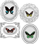 Set of four designs